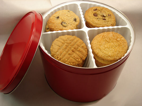 4 Dozen Cookie Tin