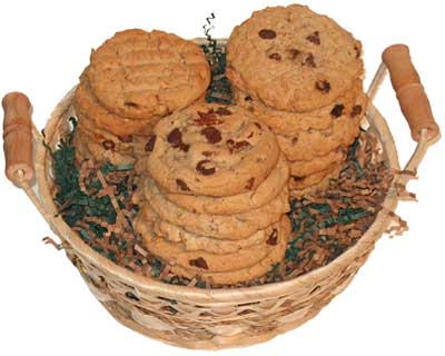1 1/2 Dozen Cookie Gift Basket - Click Image to Close